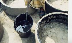 Dug well rings produced with toxic old oils by NGOs