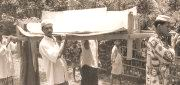 arsenic patient died, carrying for burial July 2003, Kuzurdia, Faridpur.