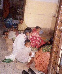 Government hospital at Faridpur- patients lying on floor