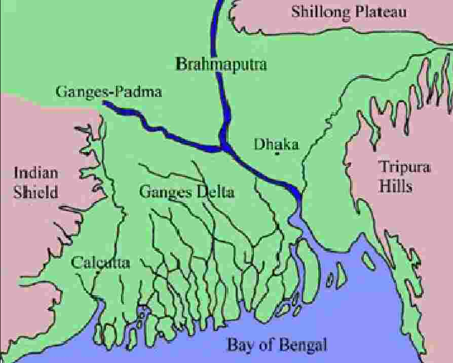 Bangladesh is the largest delta of the world
