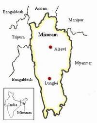 location of Mizoram