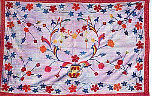 traditional  embroidered quilt by  women