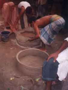 preparation of terracotta rings