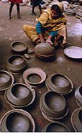 Clay potter from Madavpur