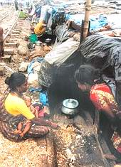 displaced frm home- slum women